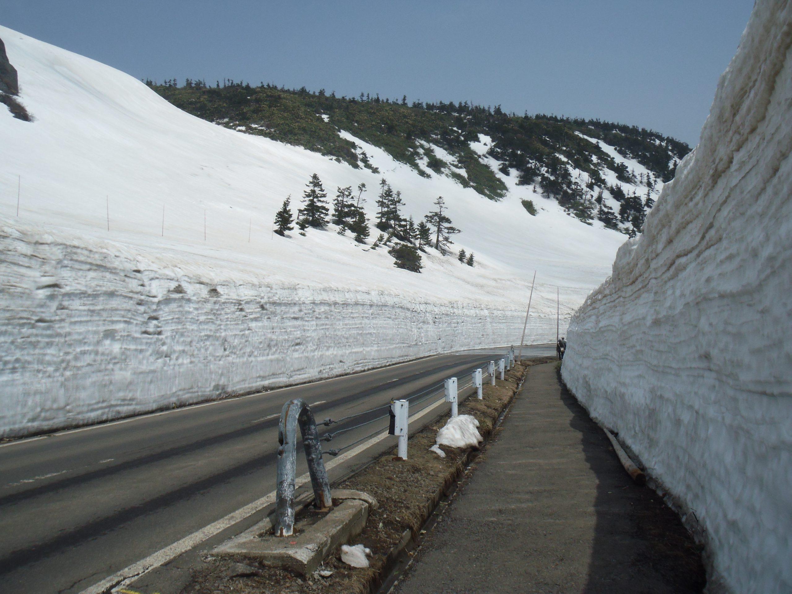高い雪の壁